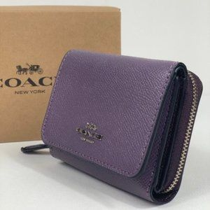 NWT Coach Small Trifold Wallet Dusty Lavander